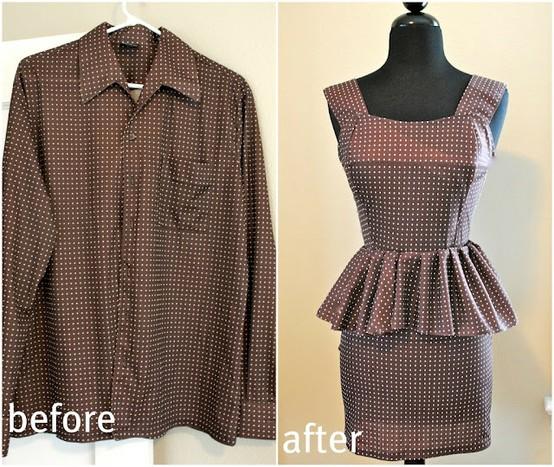 2   Elegant idea upcycled fabrics one shoulder ladies shirt. DIY Upcycled Fashionable Clothes Ideas   Recycled Things